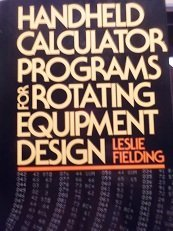 9780070206953: Handheld Calculator Programs for Rotating Equipment Design