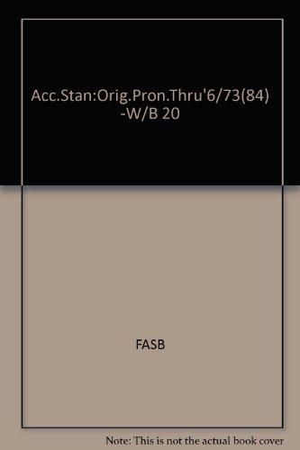 9780070209183: Acc.Stan:Orig.Pron.Thru'6/73(84) -W/B 20
