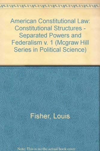 9780070211360: American Constitutional Law (Mcgraw Hill Series in Political Science)