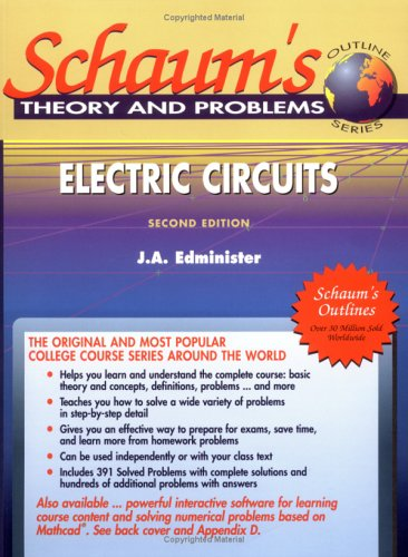 9780070212336: Schaum's Outline of Electric Circuits, Second Edition (Schaum's Interactive Outline)
