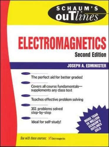 9780070212343: Electromagnetics: Second Edition (Schaum's Outline S.)