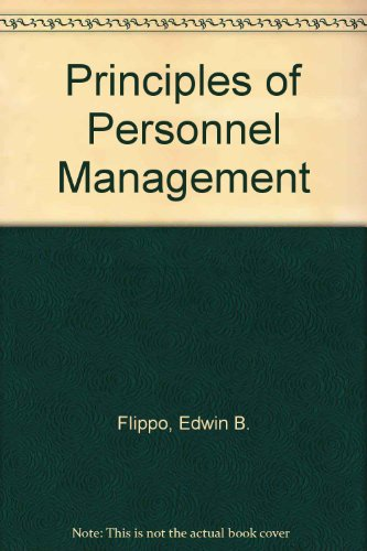 9780070213142: Principles of Personnel Management