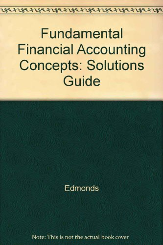 9780070213968: Fundamental Financial Accounting Concepts: Solutions Guide