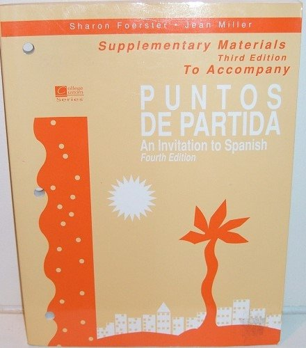 9780070214545: Supplementary Materials to Accompany Puntos De Partida an Invitation to Spanish