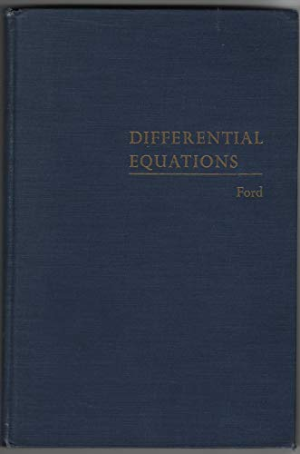 9780070215092: Differential Equations