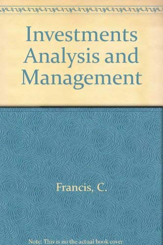 9780070217850: Investments Analysis and Management (McGraw-Hill series in finance)