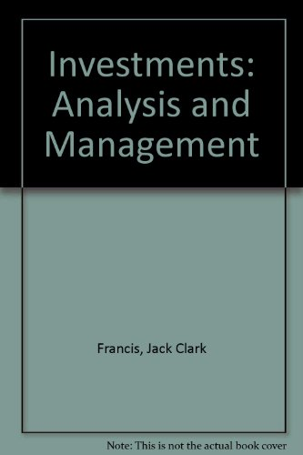 9780070218031: Investments: Analysis and management (McGraw-Hill series in finance)