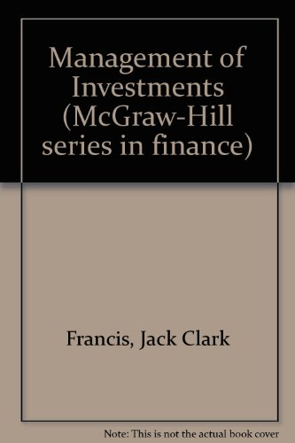 9780070218055: Management of Investments (McGraw-Hill series in finance)