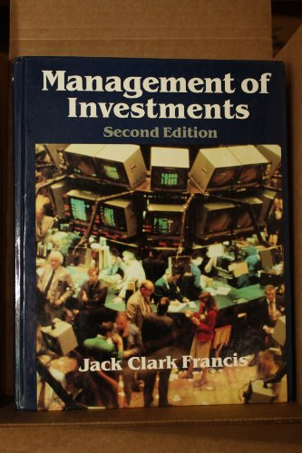9780070218086: Management of Investments (The McGraw-Hill series in finance)