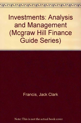 9780070218147: Investments: Analysis and Management (Mcgraw Hill Finance Guide Series)