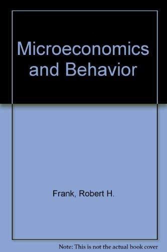 9780070218772: Microeconomics and Behavior