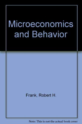 9780070218772: Microeconomics and Behavior, 2nd Edition
