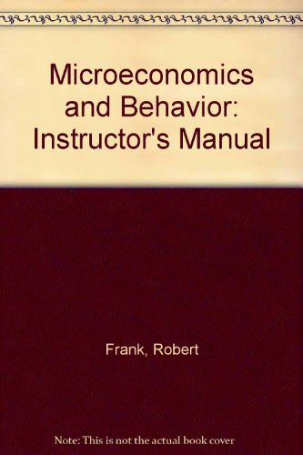 9780070218789: Microeconomics and Behavior: Instructor's Manual