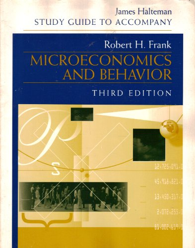 9780070218949: Microeconomics and Behavior