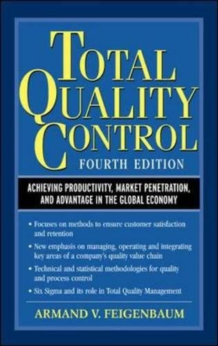 9780070220034: Total Quality Control, 4th Ed.: Achieving Productivity, Market Penetration, and Advantage in the Global Economy