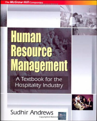 HRM: Text book for the Hospitality Industry: Sudhir Andrews