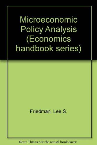 9780070224087: Microeconomic Policy Analysis (Economics handbook series)