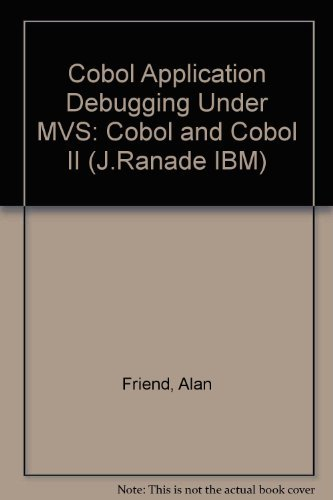 9780070224537: Cobol Application Debugging Under MVS: Cobol and Cobol II (J.Ranade IBM)