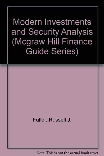 9780070226210: Modern Investments and Security Analysis (Mcgraw Hill Finance Guide Series)