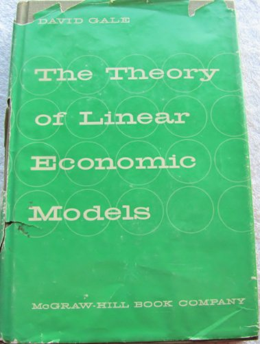 9780070227286: Theory of Linear Economic Models