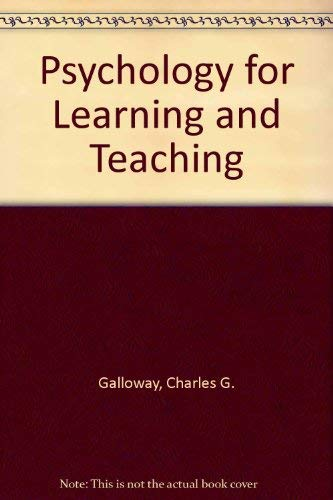9780070227378: Psychology for Learning and Teaching