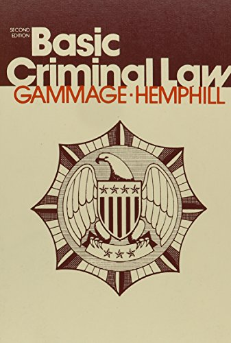 9780070227569: Basic Criminal Law