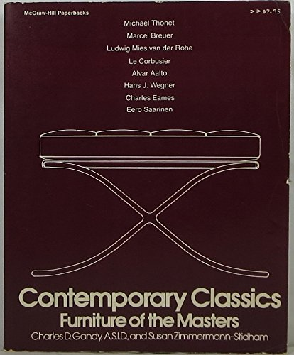 9780070227620: Contemporary Classics: Furniture of the Masters