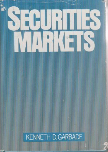 9780070227804: Securities Markets (Mcgraw Hill Series in Finance)