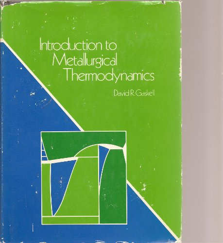 9780070229457: Metallurgical Thermodynamics (McGraw-Hill series in materials science and engineering)