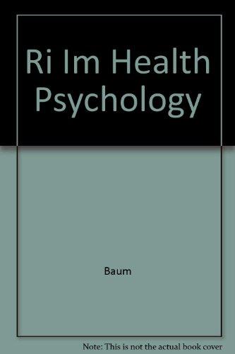 9780070229624: Ri Im Health Psychology