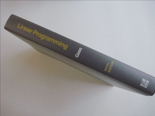 9780070229822: Linear Programming: Methods and Applications