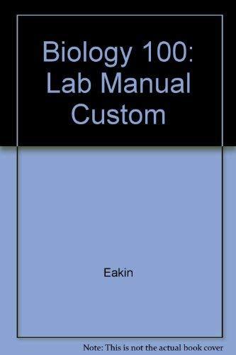 9780070230088: Biology 100: Lab Manual Custom
