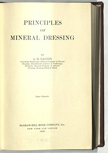 9780070230309: Principles of Mineral Dressing