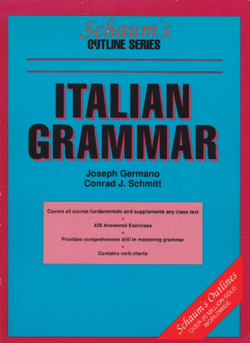 9780070230316: Schaum's Outline of Italian Grammar (Schaum's Outline Series)