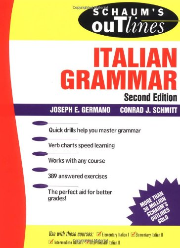 9780070230330: Schaum's Outline of Italian Grammar
