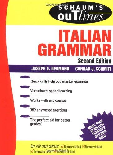 9780070230330: Schaum's Outline of Italian Grammar