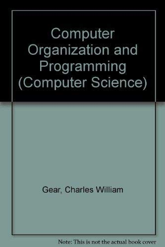 9780070230491: Computer Organization and Programming: With an Emphasis on Personal Computers (McGraw-Hill series in computer organization and architecture)