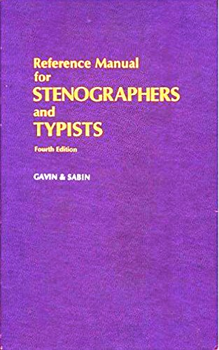9780070230668: Reference Manual for Stenographers and Typists