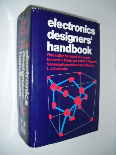Electronics Designer's Handbook 9780070231498 The major goals for this Second Edition were: 1) the introduction of solid-state technology and design 2) uniform use of S1 (metric) units throughout, and 3) increased use of analytical design techniques to reflect the greater sophistication of today's electronics designers. This is yet another step in the consolidation of professional knowledge.