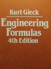 Engineering Formulas (English and German Edition) (0070232199) by Kurt Gieck