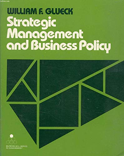 9780070235069: Strategic management and business policy (McGraw-Hill series in management)