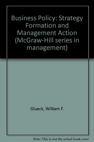 9780070235144: Business policy: Strategy formation and management action (McGraw-Hill series in management)