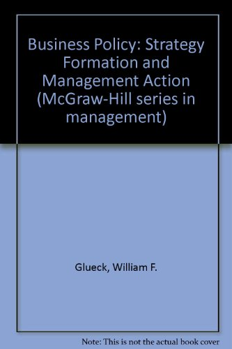 9780070235168: Business Policy: Strategy Formation and Management Action (McGraw-Hill series in management)