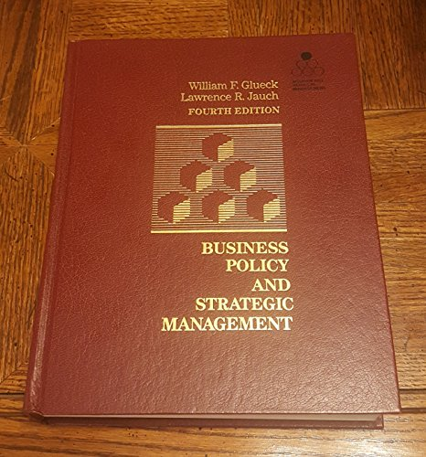 9780070235311: Business Policy and Strategic Management (McGraw-Hill series in management)