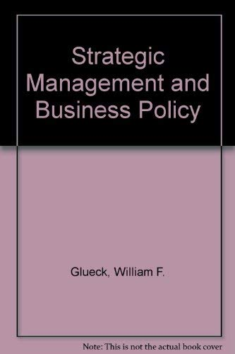 9780070235359: Strategic Management and Business Policy (Mcgraw Hill Series in Management)