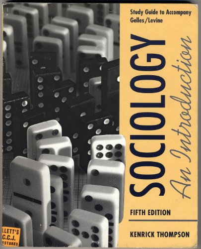 9780070236073: Sociology: An Introduction Study Guide