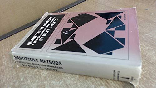 9780070236509: Quantitative Methods