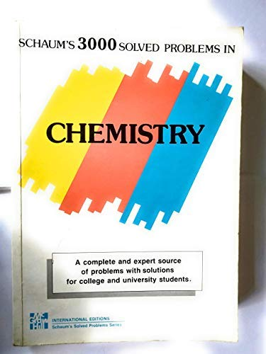 9780070236653: Three Thousand Solved Problems in Chemistry (Schaum's Outline Series)