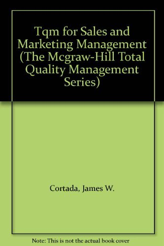 9780070237520: Tqm for Sales and Marketing Management (McGraw-Hill TQM)