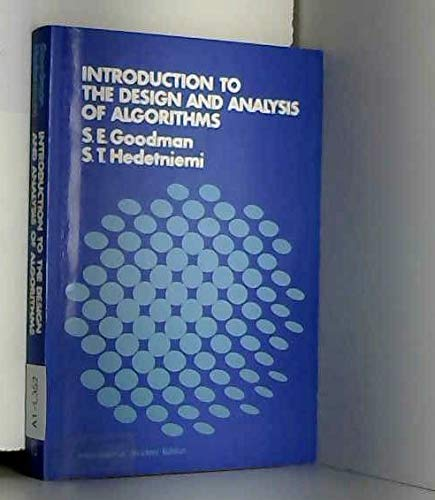 9780070237537: Introduction to the Design and Analysis of Algorithms (Mcgraw-Hill Computer Science Series)